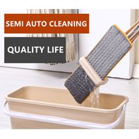 Wholesale Manufacturer Direct Selling Household Cleaning Tools Auto Washable Hands Free Rotation Floor Cleaning Flat Mop FYM1001