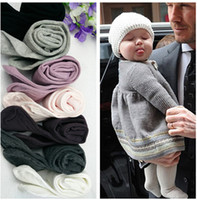 Wholesale Kids Ins Pantyhose Baby Kid Girl Thick Knee High Pantyhose Panty Hose Trousers Bottoms Long Socks Stockings Pants Trousers color KKA475