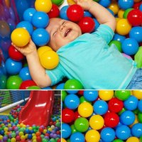 backyard pools - 50Pcs Kids Baby Colorful Soft Play Balls Toy for Ball Pit Swim Pit Ball Pool A00010 BRE