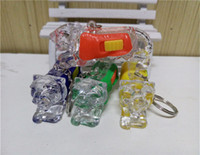 anchoring activities - whilesale Tiger Keychain keychain flash light emitting LED lamp creative activities of small gifts yuan less