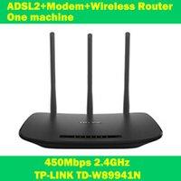 al por mayor iptv uno-TP-LINK TD-W89941N 450 Mbps módem ADSL WiFi Extender router inalámbrico una máquina de 3 antenas para redes IPTV ordenador de casa