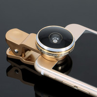 Wholesale Universal degree Clip Super cell phone Fish eye lens Fisheye selfie Camera Len with retail boxes for iPhone Samsung Note xiaomi