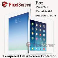 Wholesale Tempered Glass for iPad Mini iPad2 Air1 Air2 Pro H Hard High Transparent Screen Protector