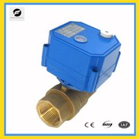 Wholesale CWX S DN15 brass way motorized ball valve DC3 v CR02 three wires electric ball valve with manual override function for water mete