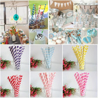 Wholesale 50packages pack Biodegradable Paper Drinking Straws Wedding Party Decoration Casamento Hot Sell