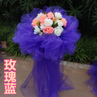 Wholesale Organza silk flower arches road lead the way wedding baskets rack supplies opportunities opening ceremony props