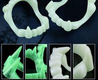 artificial teeth - Funny Halloween Vampire Artificial Tooth Werewolves False Tooth Zombie Devil Teeth Dentures Party Supplies Fright Fangs Prop