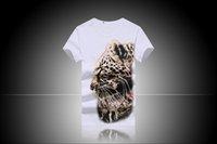 Wholesale Leopard Print Mens Tees - 6058 3D HD digital printing luminous luminous cotton Leopard Mens Short suit T-shirt top tees cotton cool Short suit