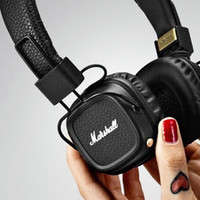 Wholesale 2016 Marshall Major MK II Black Headphones New Generation Headset Remote Mic nd pk MARSHALL MONITOR AAA quality DHL free