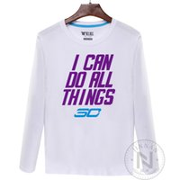 basketball things - 2016 New Basketball Curry I Can Do All Things Warriors Man Spring Autumn Long Sleeve T Shirts colors cotton Large Sizes