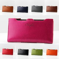 Wholesale 8 colors Women Leather Wallet Business Fashion Credit Card Holder OL Classical Women s Purse Red Solid Color Long Hasp Wallet