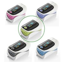 Wholesale New OLED Fingertip Pulse Oximeter alarm Spo2 Blood Monitor directions modes available English Spanish Medical Supplies Pulse Oximeters