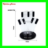 acrylic knife stand - Kitchen Knife Holder Acrylic Transparent Knife Stand With Holes Used For Knife Ceramic Knives Peelers And Scissors