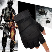 Wholesale Hot Outdoor Half Finger Gloves Military Tactical Airsoft Hunting Riding Cycling