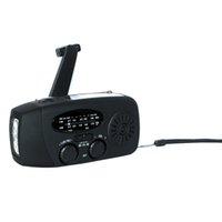 Wholesale Solar Self Powered Portable Hand Crank Emergency Radios AM FM NOAA Weather Emergency Flashlight