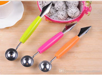 Wholesale Creative Ice Cream Dig Ball Scoop Spoon Baller DIY Assorted Cold Dishes Tool Watermelon Melon Fruit Carving Knife Cutter Gadgets