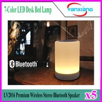 audio eyes - 5pcs Wireless Stereo Bluetooth Speaker Box LV2016 Premium Color LED Desk Bed Lamp Eyes Protection Hands free YX LV