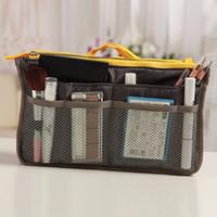 Wholesale Durable Travel Makeup Nylon Cosmetic Bag Insert Handbag Purse Zipper Case Organizer