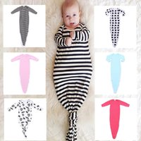in season clothing - Mermaid Tail Shark Baby Sleeping Bag styles Cotton months Newborns Baby Swaddling Mermaid Tail Sleeping Bag used in seasons