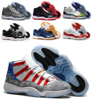 Wholesale Retro Basketball Shoes Sneakers Women Men Black Retro Shoes J11s XI Low Man Bred Georgetown Space Jam Citrus GS