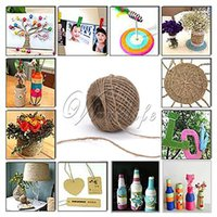 Wholesale Newest M Twisted Burlap Natural Fiber Jute Twine hemp rope Cord String Craft Ribbon mm hemp rope Wedding Paryt Home Decoration