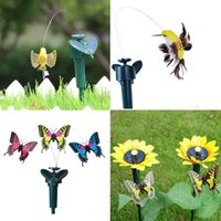 Cheap ower over ethernet connector Vibration Solar Power Dancing Flying Fluttering Butterflies Garden Decoration Free Shipping power board with...