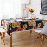 Wholesale New Cotton And Linen tablecloths Mediterranean Southeast Asian Foreign National Wind Linen table cloth Hot Sale