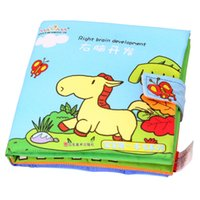baby activity book - Activity Book Cartoon Soft Baby Educational Toy Cloth Book Right Brain Development Series Book for Children Babies Kids Learning