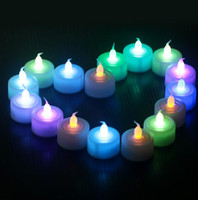 Wholesale Halloween led candles home decoration Led candle Battery operated Flicker Flameless LED Tealight Tea Candles Light Wedding Party candles