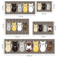Wholesale 40cm W cm L New Arrival Cartoon Animal Anti Skit Bathroom Carpets Cat Carpet for Bedroom Acrylic Door Mat mm Thick pc