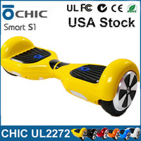 achat en gros de io hoverboard-IO CHIC UL2272 Hoverboard USA Stock IO Chic intelligent S1 Scooter électrique 2 Roues Solde Scooter Skateboard IO Faucon Samsung Hoverboard Batterie