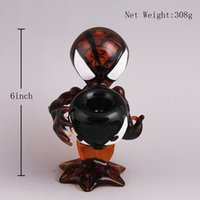 beautiful wine glasses - Amazing Wine Red Alien Glass Oil rig Alien Glass water pipes glass bubbler with Big Glass Bowl With Beautiful Appearance and High Quality
