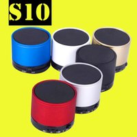 Wholesale S10 Bluetooth Speaker Outdoor Speakers Handfree Mic Stereo Portable Speakers TF Card Call Function DHL No Logo In Retai BOX MIS059