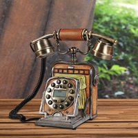 Wholesale Creative camera model fixed telephone Study and bedroom European retro nostalgia interesting resin Corded telephone set
