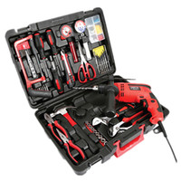 Wholesale 116pcs Hand Household Electric Tool Kit Sets Combined Home Electric Tool Set Domestic Portable Repairings Power Manual Tools Set