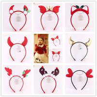 Wholesale Christmas Headbands Baby Girls Hair Accessories Decorations Antlers Party Hair Bands Red Color Holiday Hair Sticks