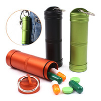 Wholesale Large waterproof Aluminum seal pot Outdoor first aid medicine bottle Metal keychains EDC waterproof storehouse survival equipment