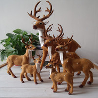 articles for children - Children Simulation model Toy Kids Artificial Sika Deer furnishing articles simulation animal fawn For New Year Christmas