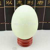 ball garden ornament - arden Buildings Garden Ornaments Luminous ball shape goose egg MM natural calcite glowing pearl stones Lucky Stone in the