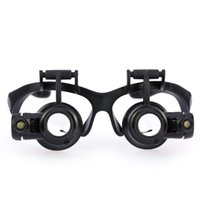 Wholesale 10X X X X Replaement Lens Magnifying Glasses Binocular Loupe Magnifier with LED for Jewelry Appraisal Watch Repair Vision Care E0575