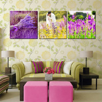 Wholesale Pieces unframed art picture Canvas Prints abstract potted flower Lavender Kiss of love rose tulips Coffee Lotus leaf fish