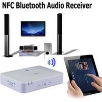 al por mayor receptor bluetooth nfc-Adaptador de Música receptor de audio inalámbrico Bluetooth NFC para el hogar sistema de sonido estéreo y altavoces Amplificador de Audio