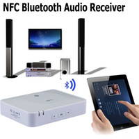 amplifier adapters - NFC Wireless Bluetooth Audio Receiver Music Adapter for Home Stereo Sound System and Speakers Audio Amplifier