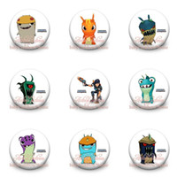 Wholesale 90pcs Slugterra mm Diameter Buttons Pin Badges Pins New Pinbacks Round Brooches Badges clothes decoration kid Christmas party gift