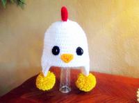 barn cartoon - Crochet chicken hat Cartoon children s hat caps Chicken Rooster Crochet baby Hat Barn Yard Animal Photo Prop