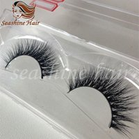 Wholesale 2016 New Fashionable Handmade D Mink Eyelash Miink Hair Full Strip Eyelashes Extensions With Custom Boxs