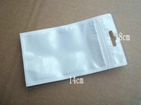 Wholesale clear white plastic Zipper Retail package bag For Data cable car charger Cell Phone Accessories Packing