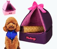 Wholesale Hot Dog Cat Puppy Teddy Removable Tent Pet Bed Self Cooling Mattress Cushion Sets Pet Kennel