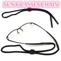 Wholesale New Black Adjustable Braided Rope Neck Cord Sun glasses Eyeglasses Neck Strap Cord Lanyard Retainer Strap