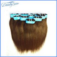 al por mayor 6pcs del pelo recto-6pcs mucho 300g para una cabeza brasileño cabelo humano recta color2 la extensión del pelo humano real teje